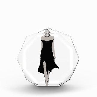 Runway model in designer outfit award