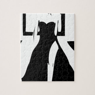 Runway model in fashionable gown jigsaw puzzle