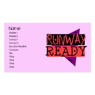 RUNWAY READY profile card Business Card