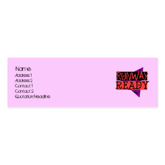 RUNWAY READY skinny profile card Mini Business Card