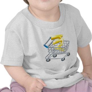 Rupee currency shopping cart t shirts