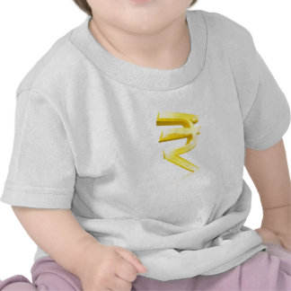 Rupee currency sign shirts
