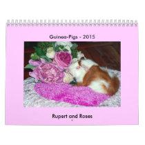 Rupert and Roses - Guinea Pig Calendar