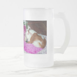 Rupert and Roses - Guinea Pig Frosted Glass Beer Mug