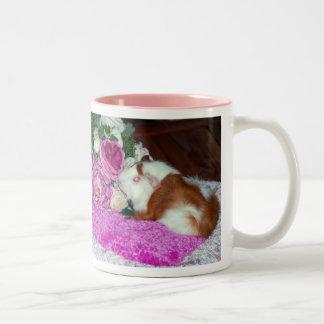 Rupert and Roses - Guinea Pig Two-Tone Coffee Mug