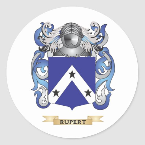 Rupert Coat of Arms (Family Crest) Classic Round Sticker