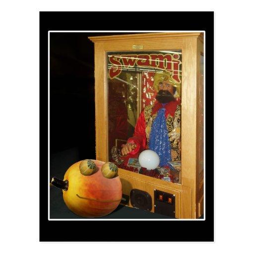 Rupert Halloween Pumpkin & The Swami Post Card