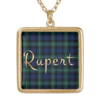 Rupert Name-branded Pendant on MacKenzie Tartan