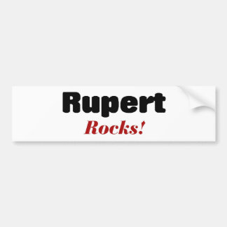 Rupert Rocks Bumper Sticker