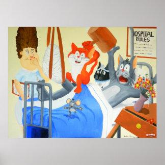 Rupert y centelleos en el hospital - poster