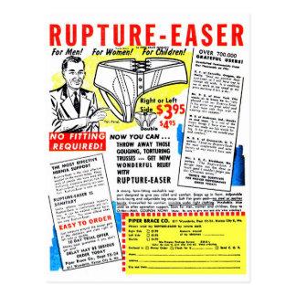 Ruptura-Easer retra del anuncio del cómic del kits Postal