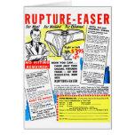 Ruptura-Easer retra del anuncio del cómic del kits Tarjeton