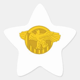 RUPTURED DUCK WWII STAR STICKER