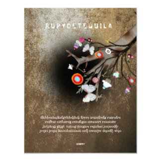 Rupydetequila Children´s Illustration 2013 4.25x5.5 Paper Invitation Card