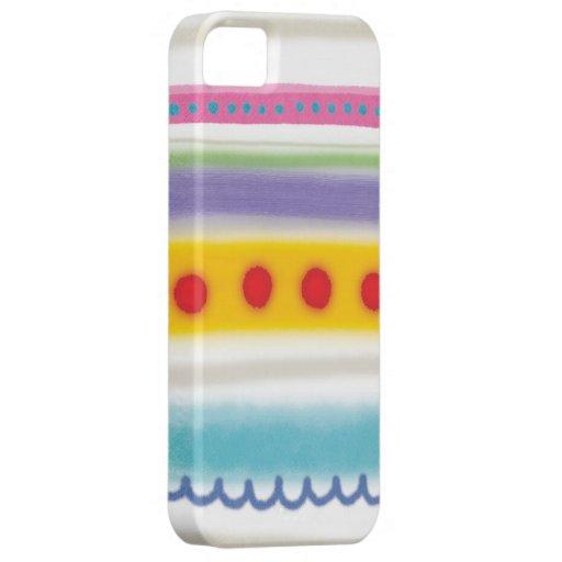 Rupydetequila colorea el caso ilustrado las rayas iPhone 5 Case-Mate cárcasas