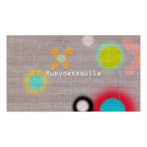 Rupydetequila Cute Flora Business Card