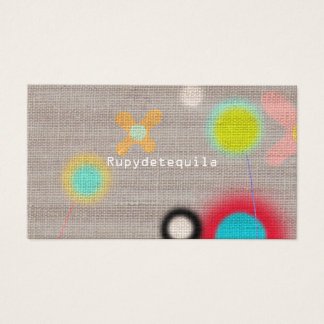 Rupydetequila Cute Flora Business Card