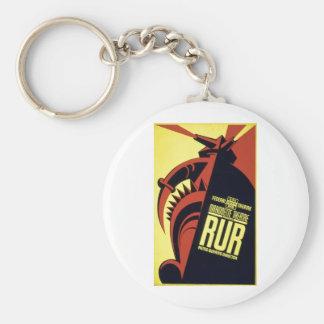 RUR - Rossum's Universal Robots - Karel Čapek 1939 Basic Round Button Keychain