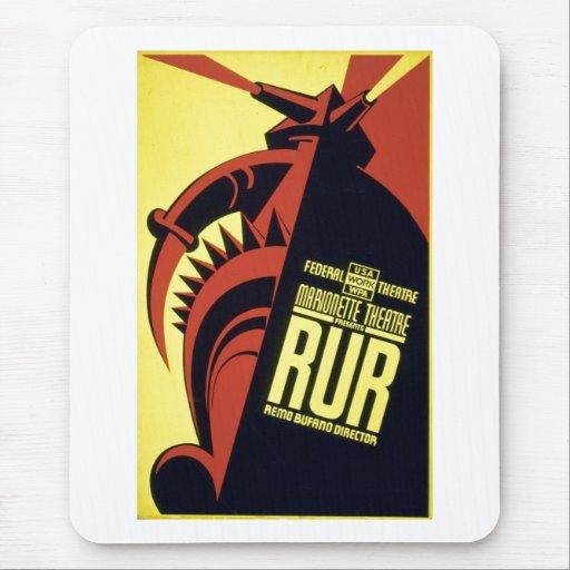 RUR - Rossum's Universal Robots - Karel Čapek 1939 Mouse Pad