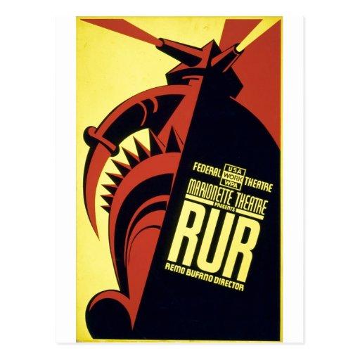 RUR - Rossum's Universal Robots - Karel Čapek 1939 Postcard