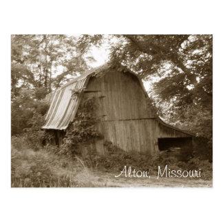 Rural Abandoned Missouri Barn Postcard