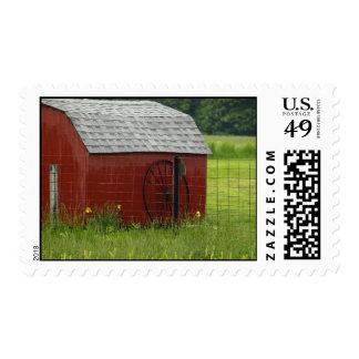 Rural Americana Postage Stamp