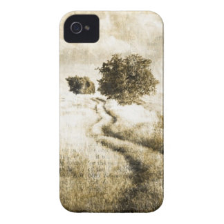 Rural autumn farm oak tree western country road iPhone 4 cover