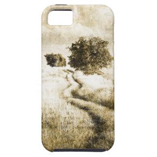 Rural autumn farm oak tree western country road iPhone SE/5/5s case