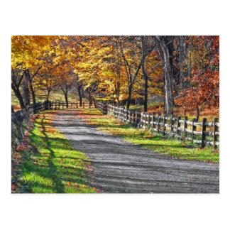 Rural Autumn Postcard
