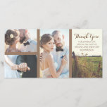 """Rural Barbed Wire Fence Rustic Wedding Thank You Card<br><div class=""""desc"""">Wedding thank you with rural fence</div>"""