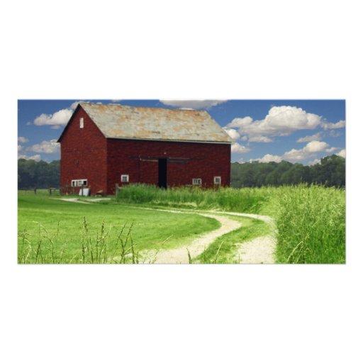 Rural Barn Photo Card