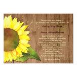 "Rural Barnwood Watercolor Sunflower Wedding Invite 5"" X 7"" Invitation Card"