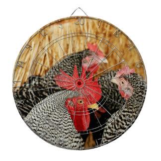 Rural Chickens Photo Dartboard Dart Board