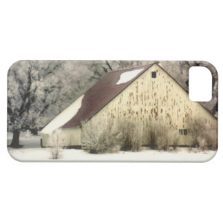 Rural Country Barn in Snow Landscape Photo iPhone 5 Cases