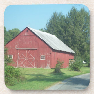 Rural Country Red Barn Coaster