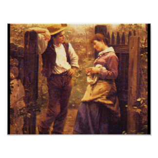 Rural Courtship', Daniel_Art of America Poster