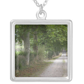 Rural dirt country road near the town of square pendant necklace