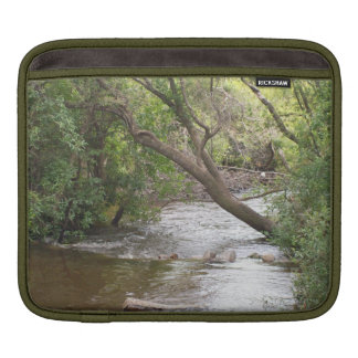Rural Down by the Creek Branch Trees Water Nature Sleeve For iPads