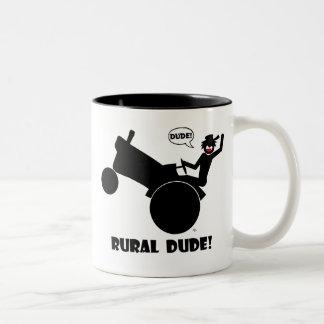 RURAL DUDE 2 Two-Tone COFFEE MUG