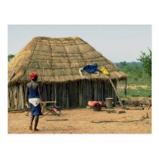 Rural family compound, Kunene, Angola Postcard
