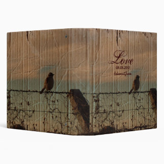 Rural Farm fence bird western barn wedding Binder