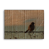 Rural Farm fence bird western barn wedding Envelope