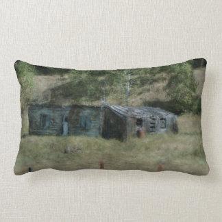 Rural Farm Outbuildings Impressionist Art Pillow