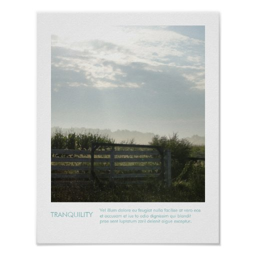 Rural Farm Photography Inspirational Quote Poster