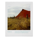 Rural Farm Photography Inspirational Quote Print