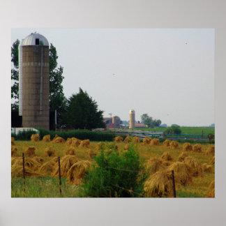 RURAL FARM SCENE POSTER