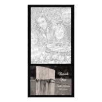 Rural Fence Post Country Ranch Thank You Card