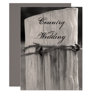 Rural Fence Post Country Wedding Program