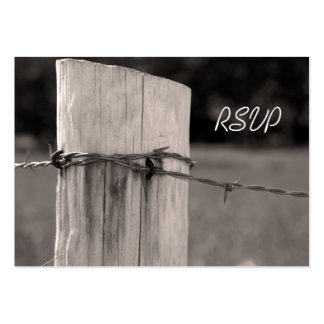Rural Fence Post Country Wedding Response Card