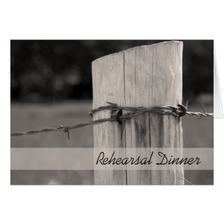 Rural Fence Post Ranch Rehearsal Dinner Invitation